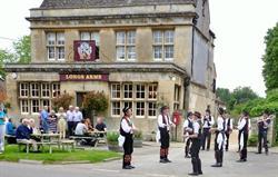 Morris Dancing outside the pub