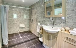 Spacious ground floor wet room