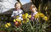 Kids in Flowers