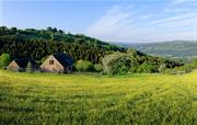 Panoramic view of Usk Valley