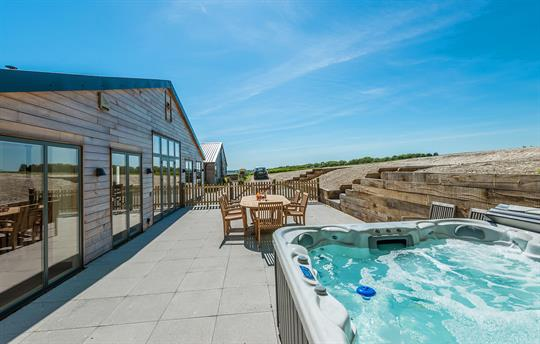 The stunning hot tub and views outs