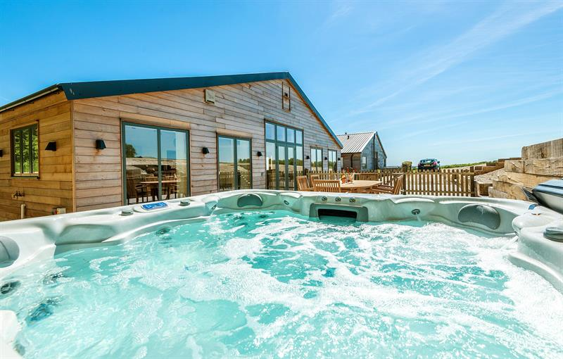 Silverbirch with large hot tub