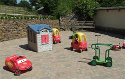 Toddler ride-on area