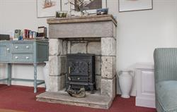 Electric 'woodburner'  in lounge