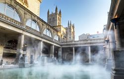 The Roman Baths 10 mins walk