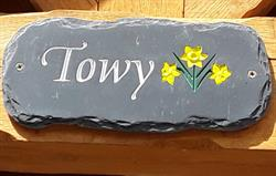 Towy Name Plate