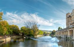 The River Avon, middle of Bath