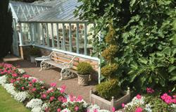 Furnished glasshouse for guests